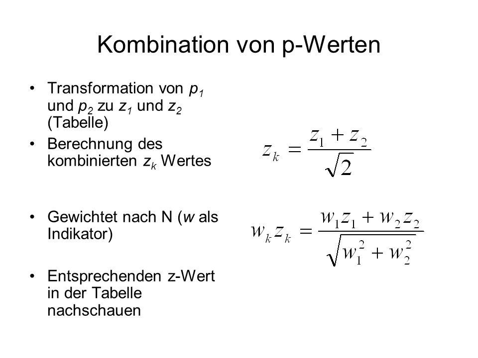 Kombination von p-Werten