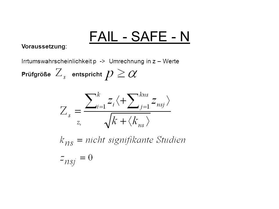 FAIL - SAFE - N Voraussetzung: