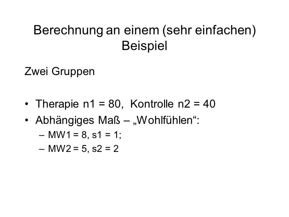 Berechnung an einem (sehr einfachen) Beispiel