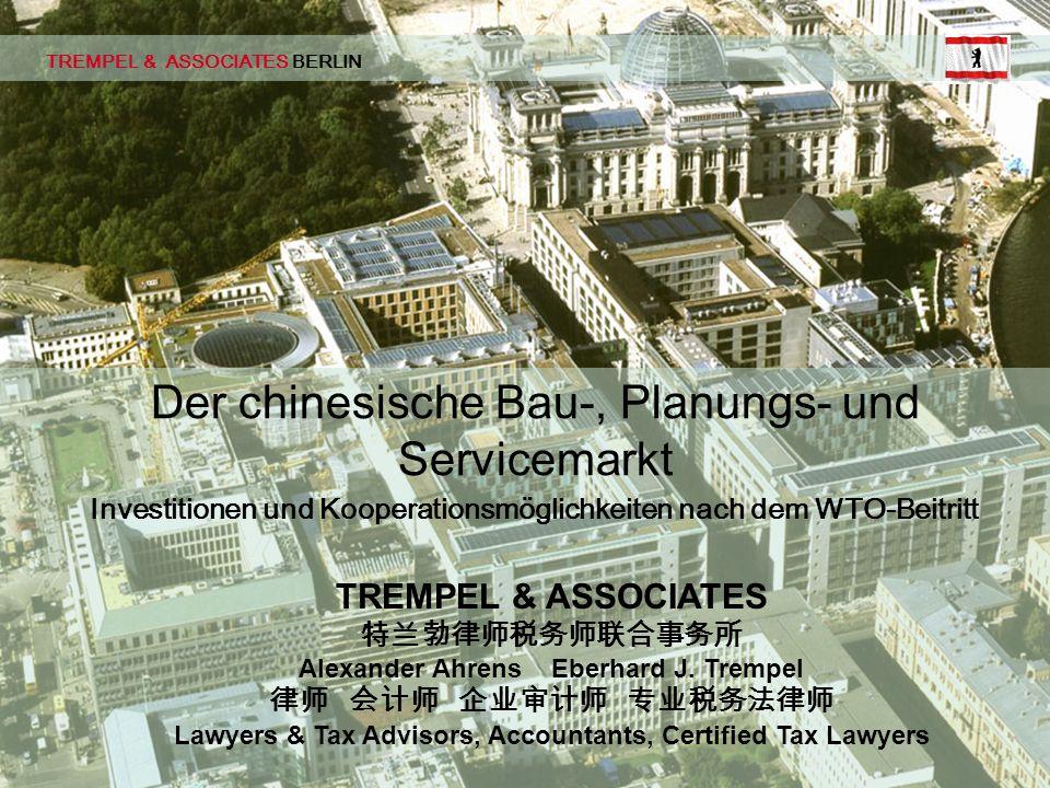 Der chinesische Bau-, Planungs- und Servicemarkt