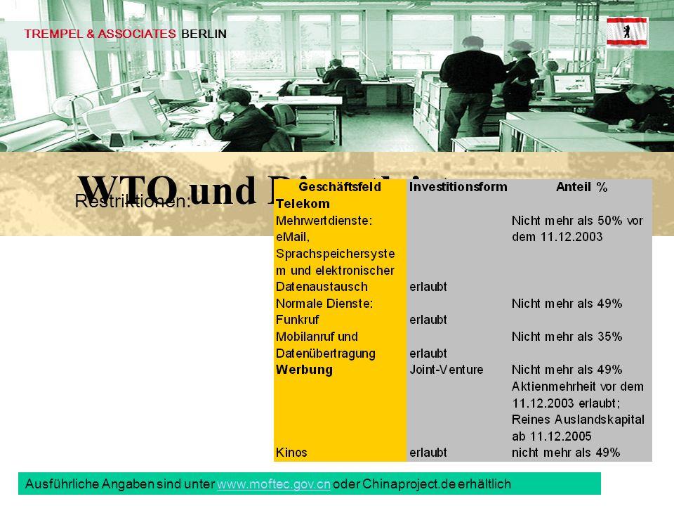 WTO und Dienstleistung