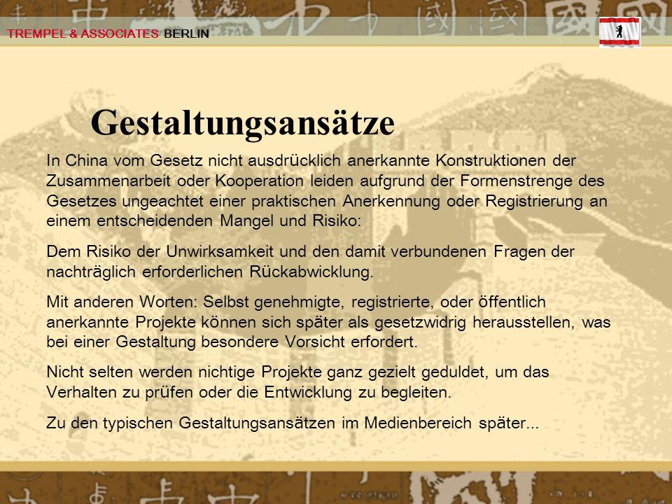TREMPEL & ASSOCIATES BERLIN