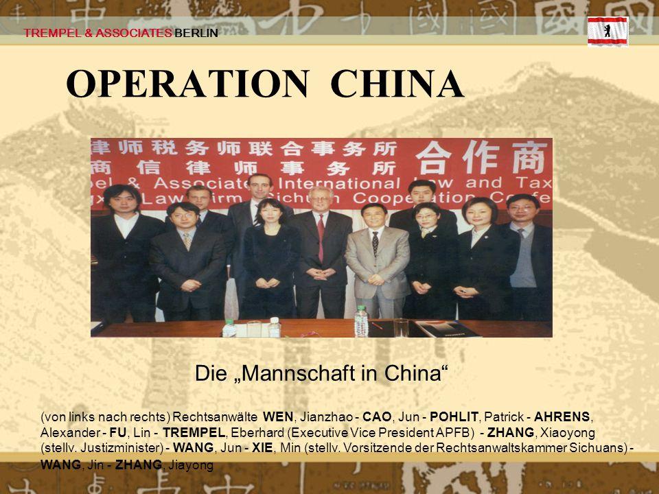 """Die """"Mannschaft in China"""