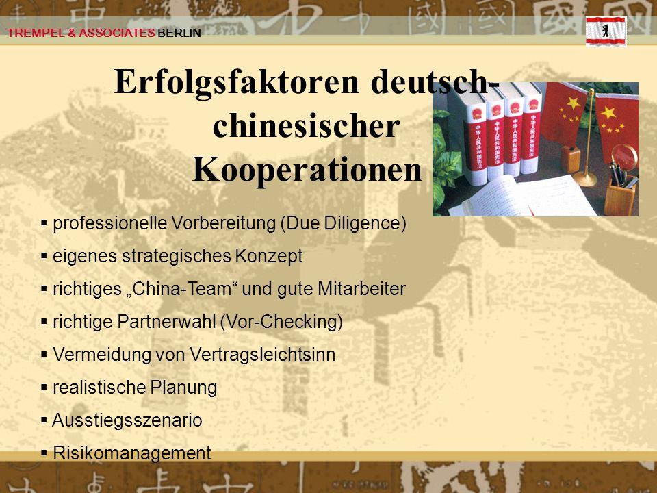 Erfolgsfaktoren deutsch-chinesischer Kooperationen