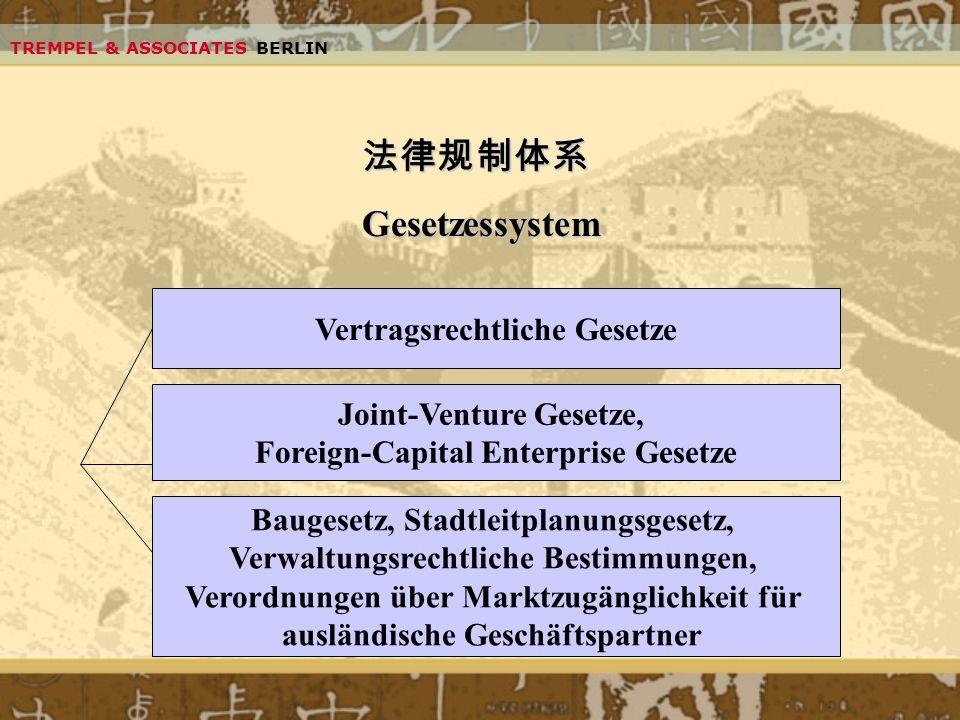 法律规制体系 Gesetzessystem Vertragsrechtliche Gesetze