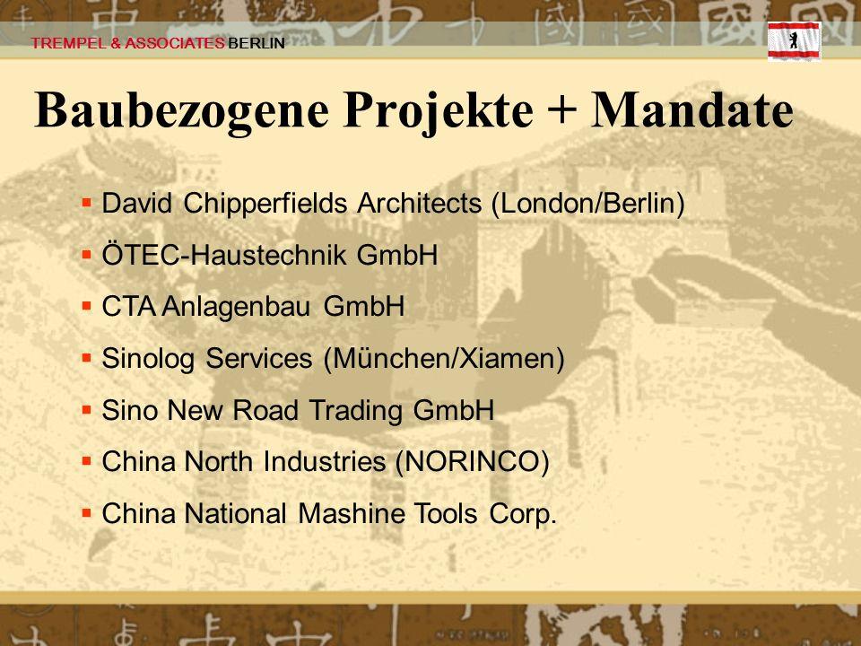 Baubezogene Projekte + Mandate