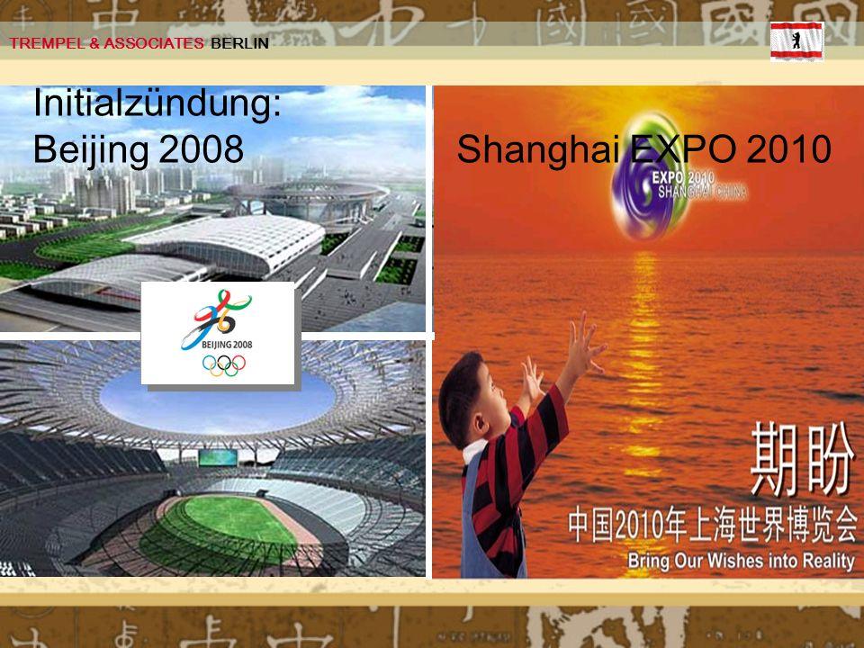 Initialzündung: Beijing 2008 Shanghai EXPO 2010