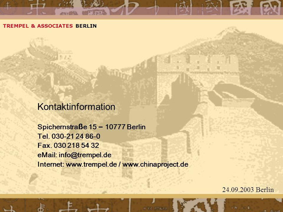 Kontaktinformation Spichernstraße 15 – 10777 Berlin