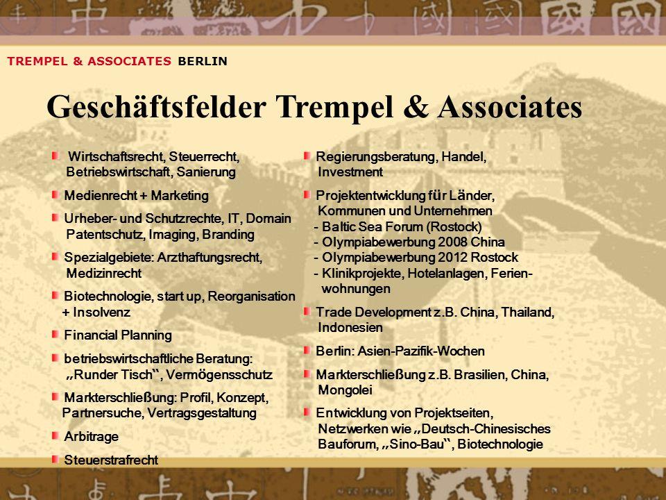 Geschäftsfelder Trempel & Associates
