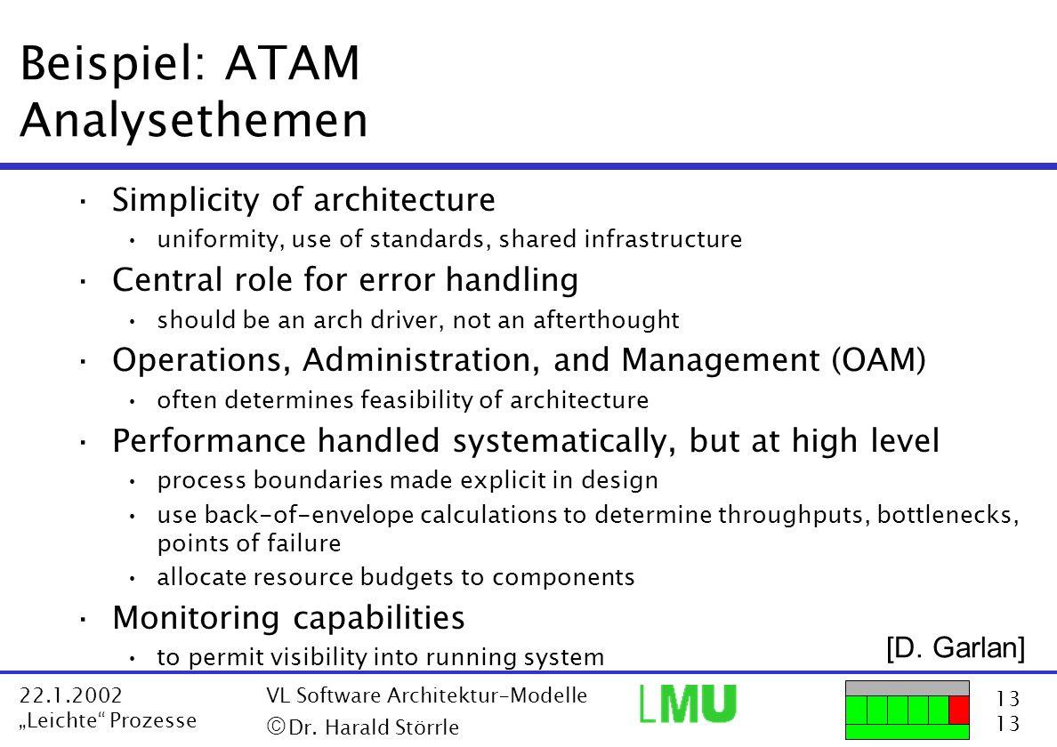 Beispiel: ATAM Analysethemen