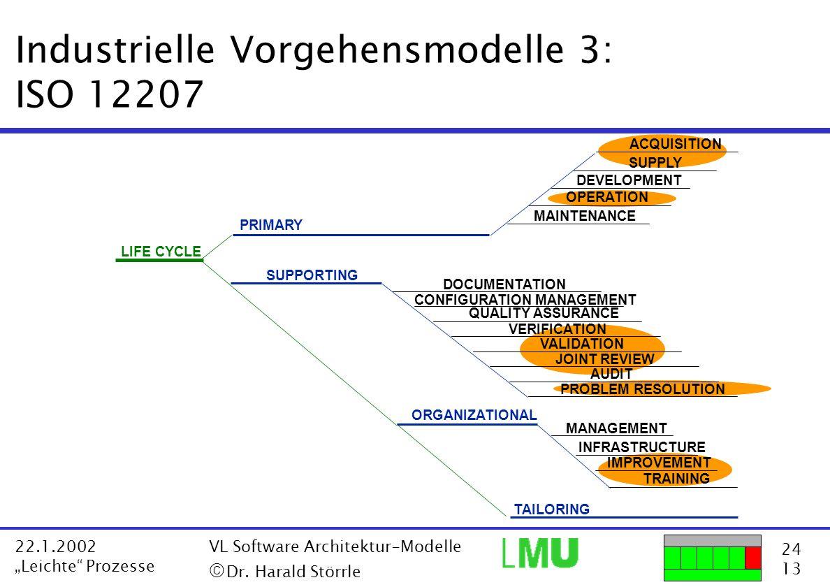 Industrielle Vorgehensmodelle 3: ISO 12207