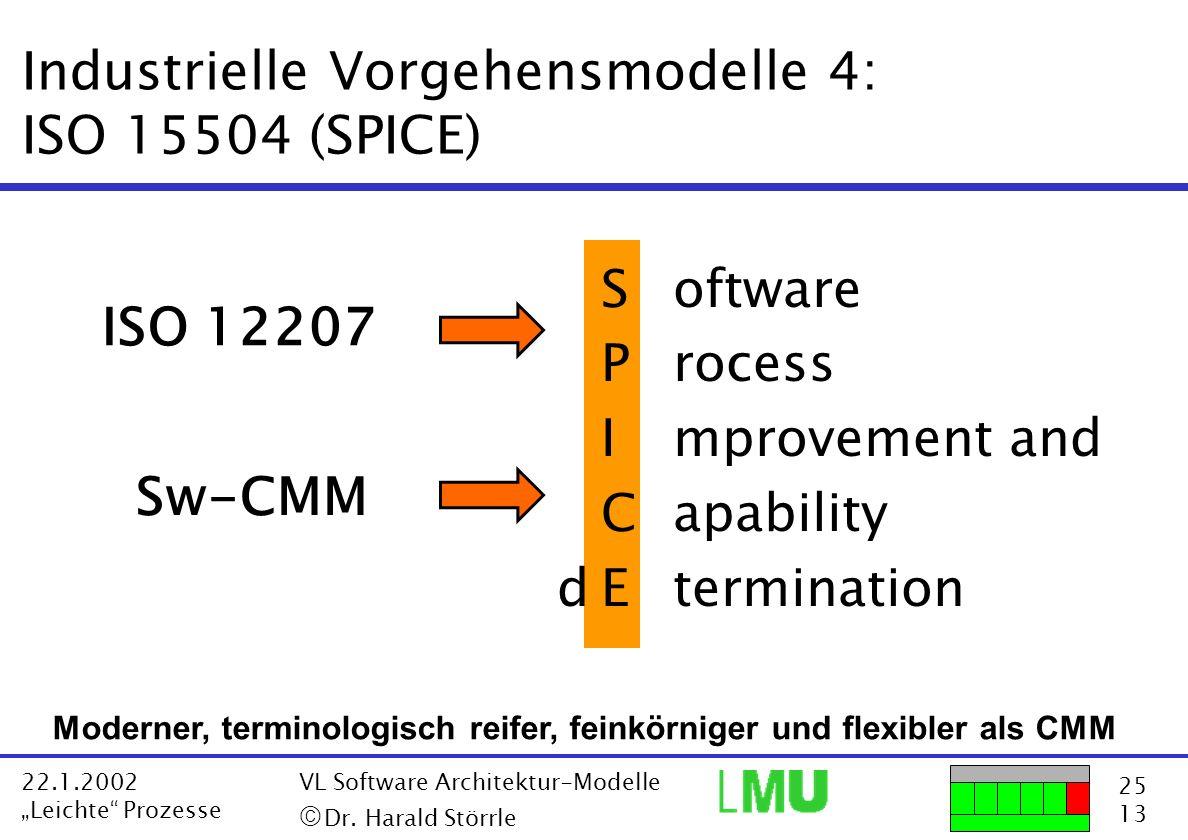 Industrielle Vorgehensmodelle 4: ISO 15504 (SPICE)