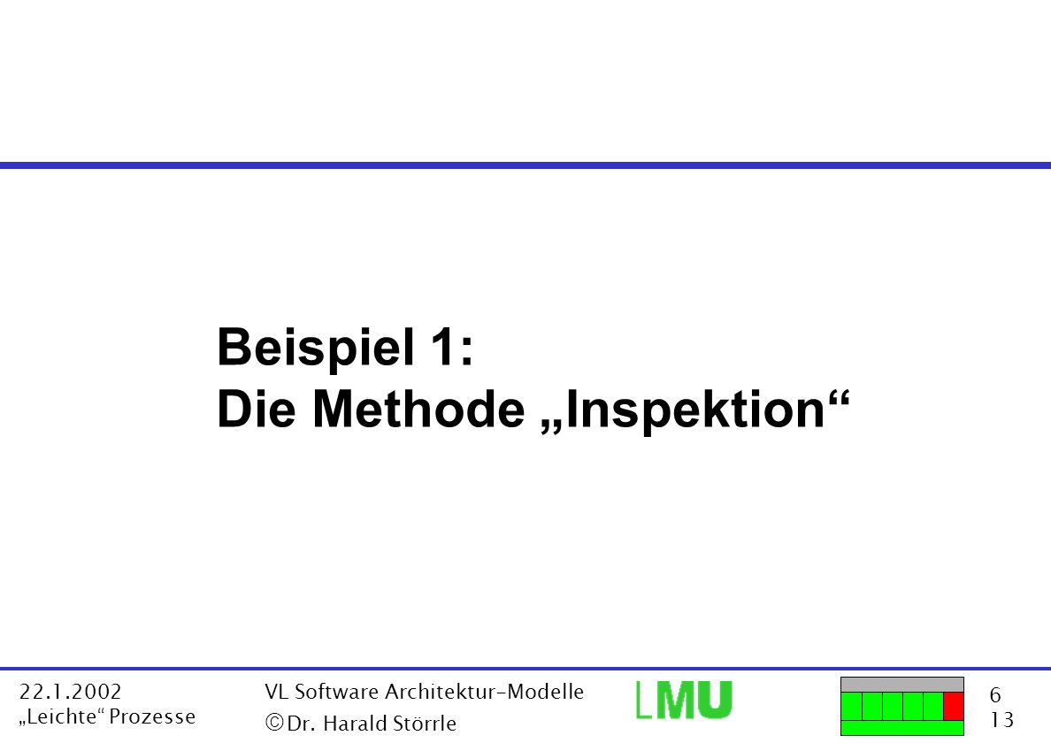 "Die Methode ""Inspektion"