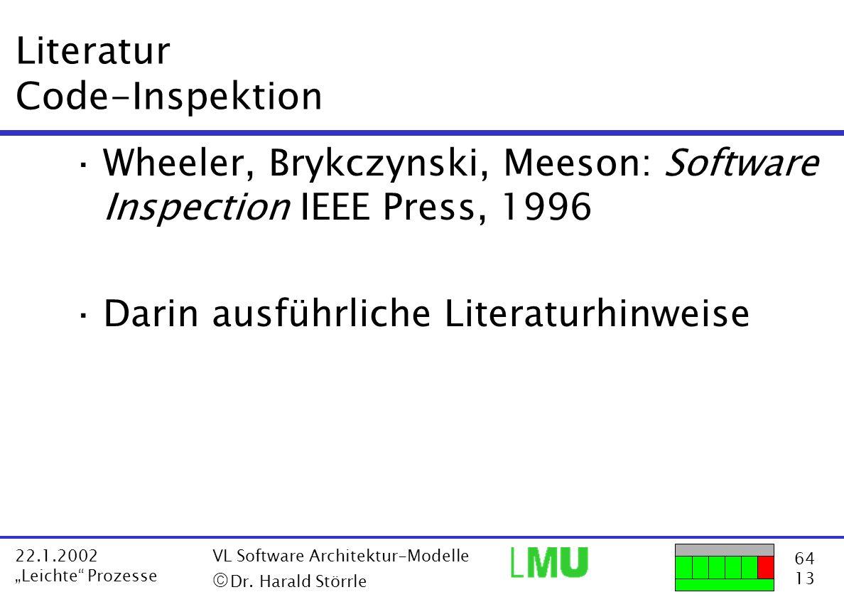 Literatur Code-Inspektion