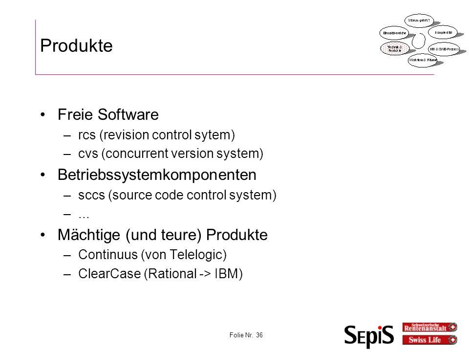 Produkte Freie Software Betriebssystemkomponenten