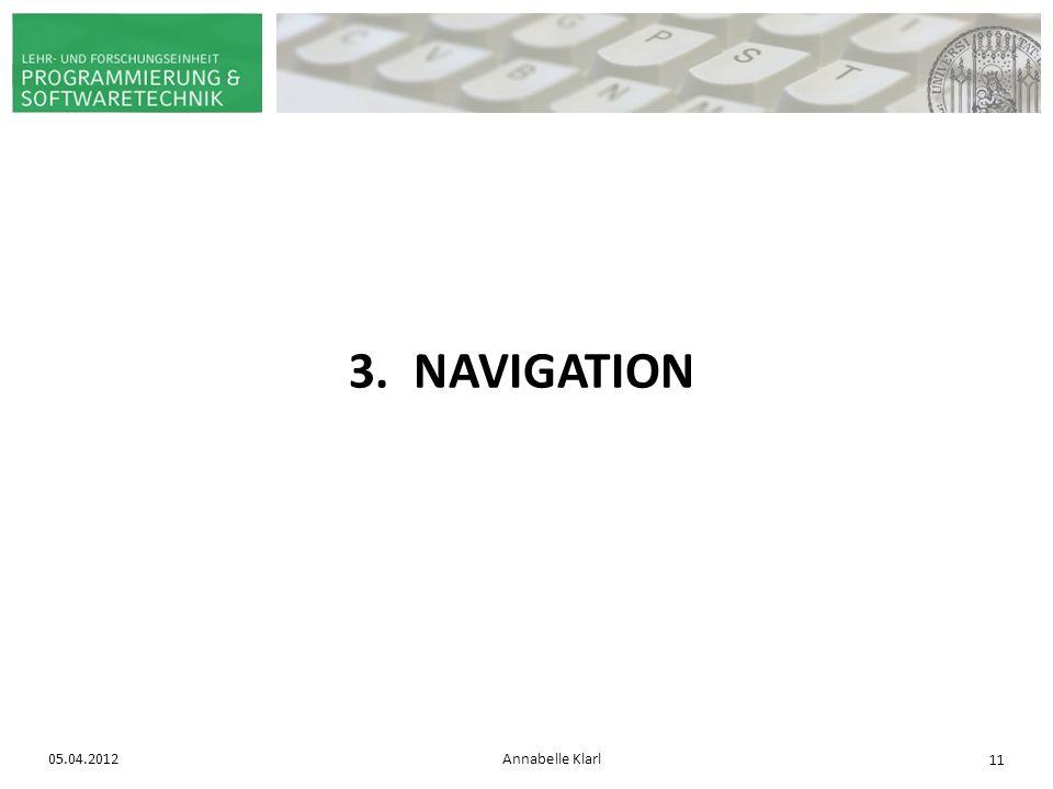 3. NAVIGATION 05.04.2012 Annabelle Klarl