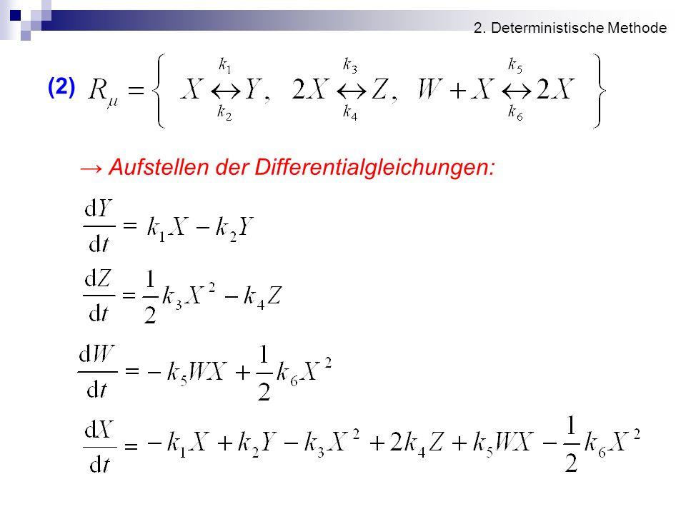 → Aufstellen der Differentialgleichungen:
