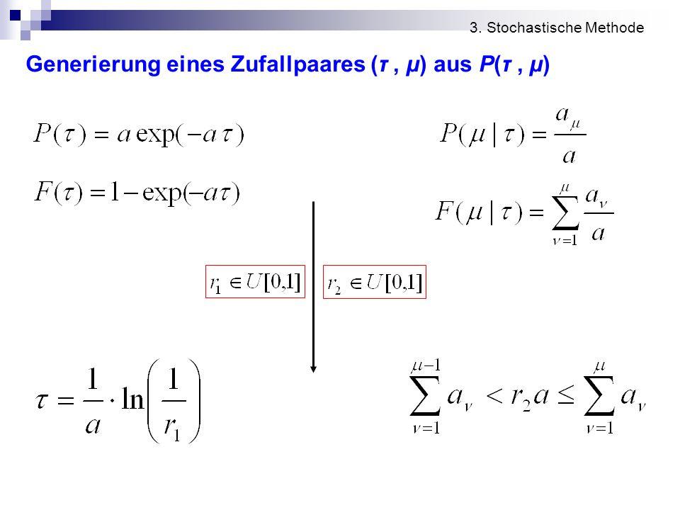 Generierung eines Zufallpaares (τ , μ) aus P(τ , μ)