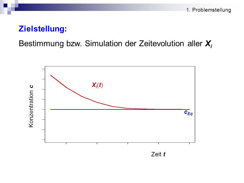 Bestimmung bzw. Simulation der Zeitevolution aller Xi