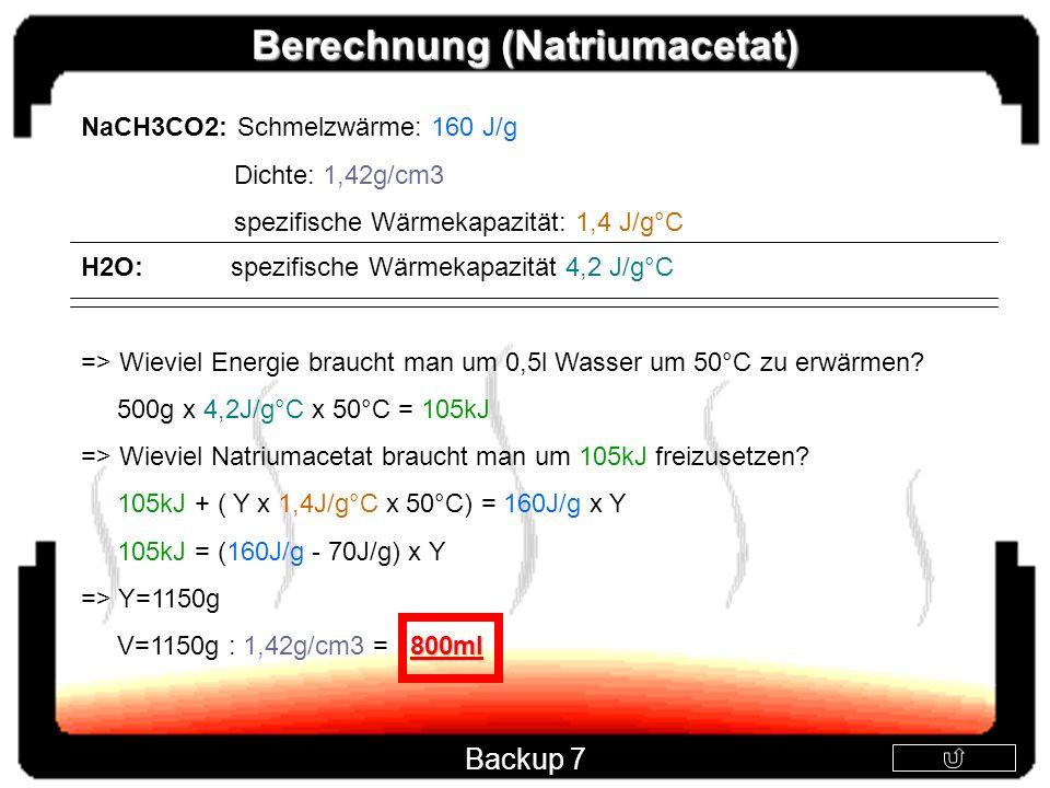 Berechnung (Natriumacetat)
