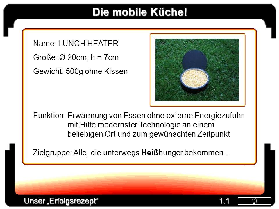 Die mobile Küche! Name: LUNCH HEATER Größe: Ø 20cm; h = 7cm
