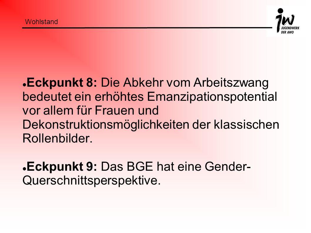 Eckpunkt 9: Das BGE hat eine Gender-Querschnittsperspektive.