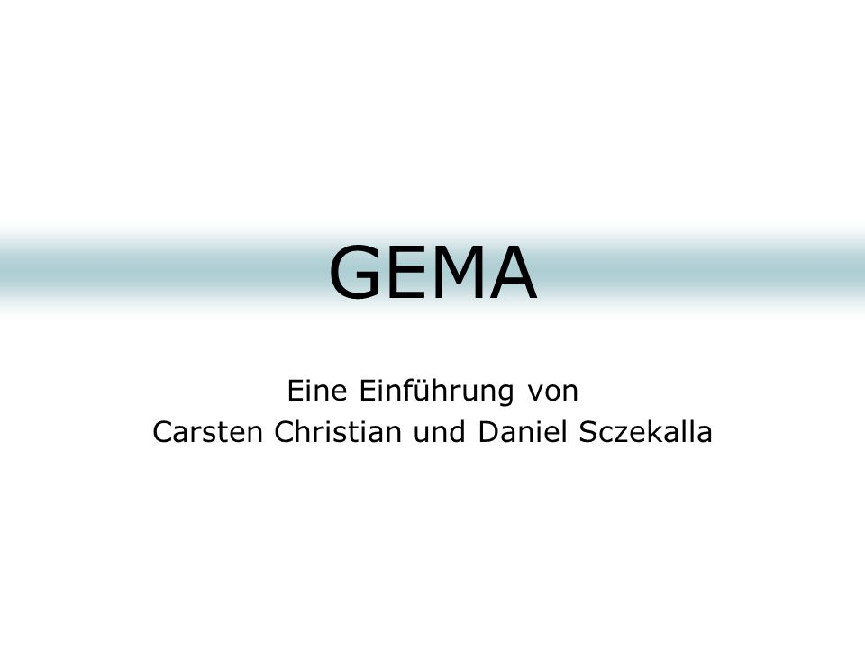 Eine Einführung von Carsten Christian und Daniel Sczekalla