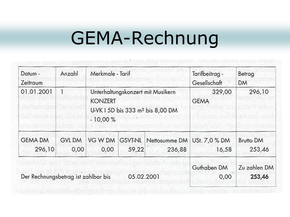 GEMA-Rechnung