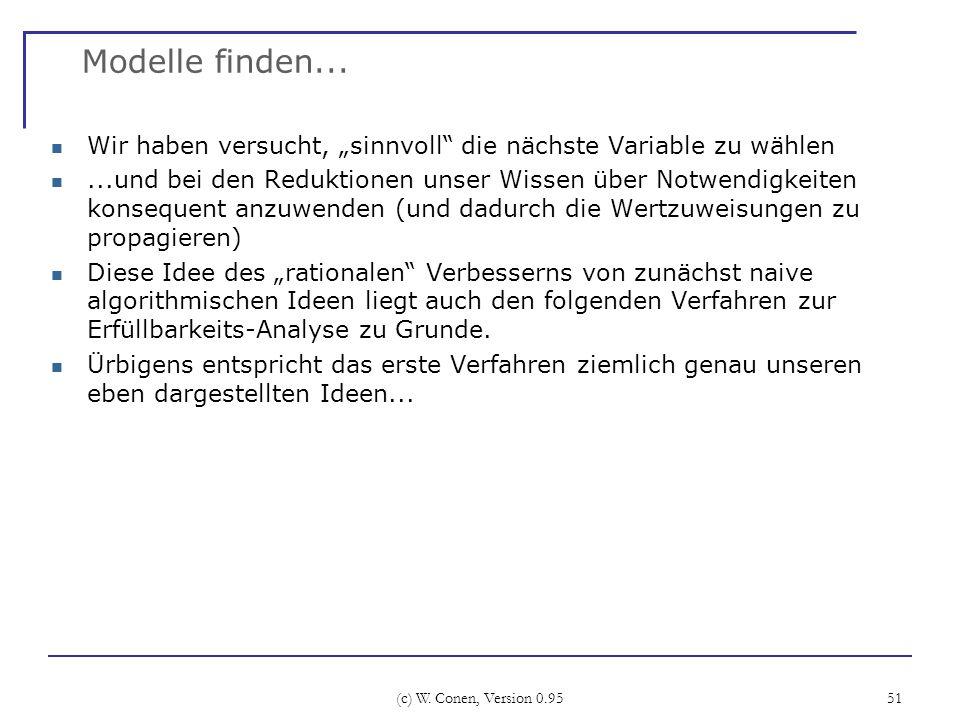 """Modelle finden... Wir haben versucht, """"sinnvoll die nächste Variable zu wählen."""