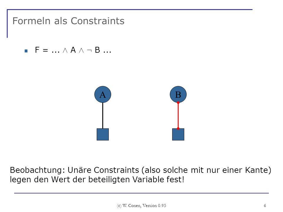 Formeln als Constraints