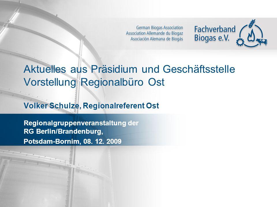 Aktuelles aus Präsidium und Geschäftsstelle Vorstellung Regionalbüro Ost Volker Schulze, Regionalreferent Ost