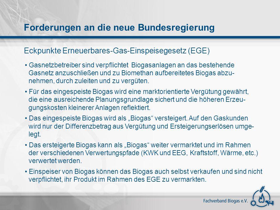 Eckpunkte Erneuerbares-Gas-Einspeisegesetz (EGE)