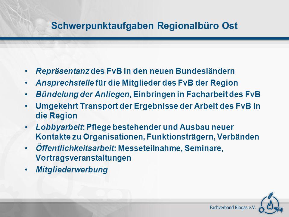 Schwerpunktaufgaben Regionalbüro Ost