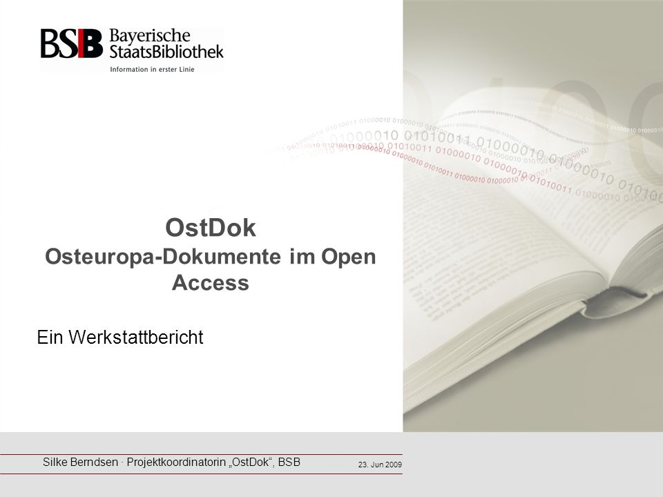 OstDok Osteuropa-Dokumente im Open Access