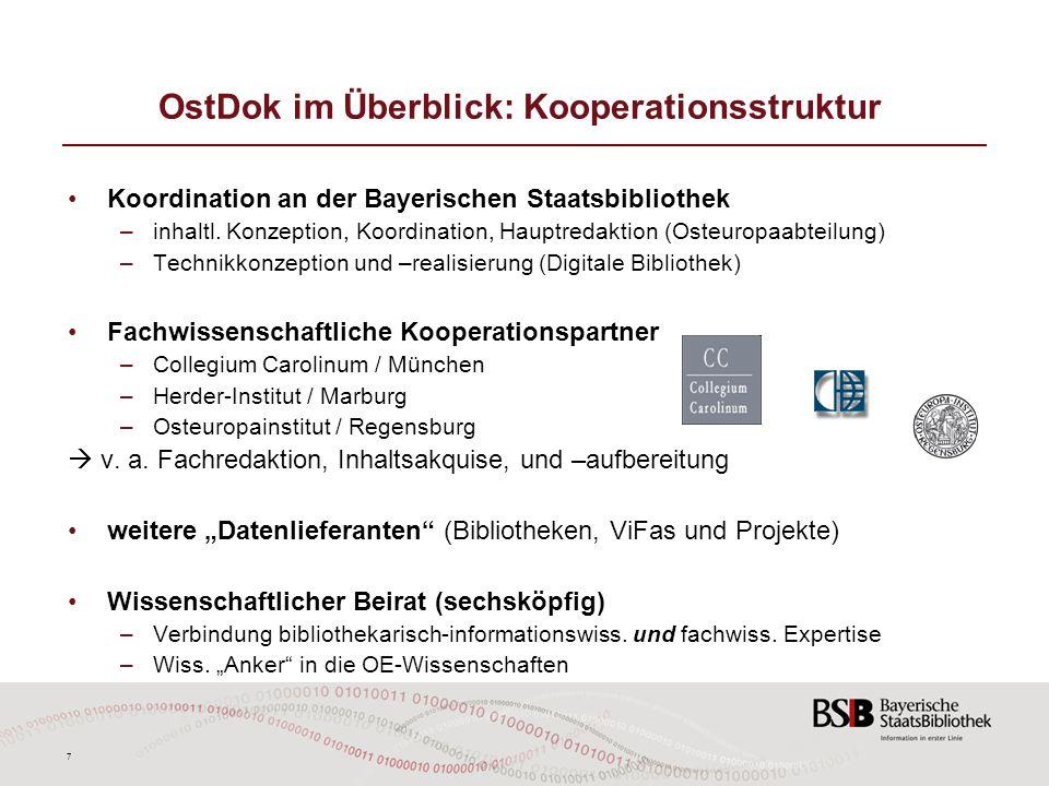 OstDok im Überblick: Kooperationsstruktur