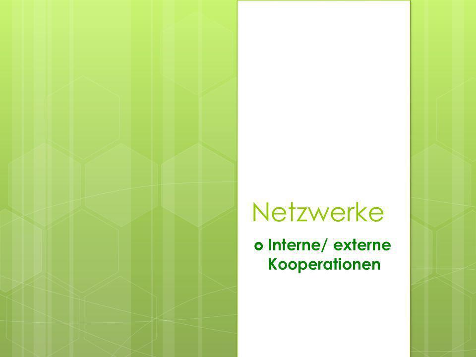 Interne/ externe Kooperationen