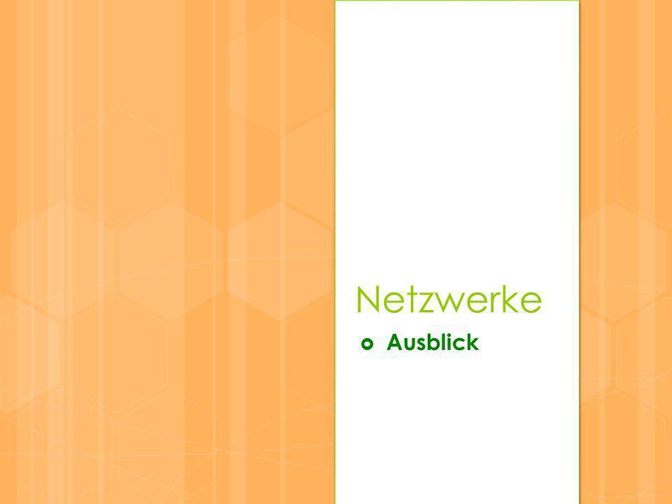 Netzwerke Ausblick