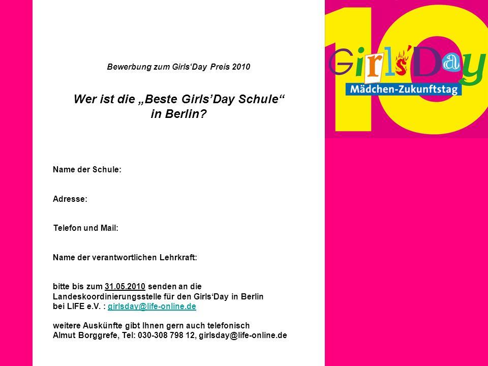"Wer ist die ""Beste Girls'Day Schule in Berlin"