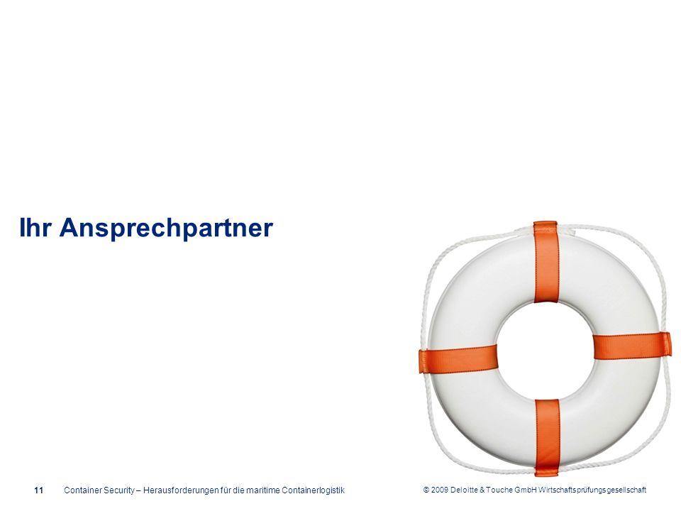 Ihr Ansprechpartner Container Security – Herausforderungen für die maritime Containerlogistik