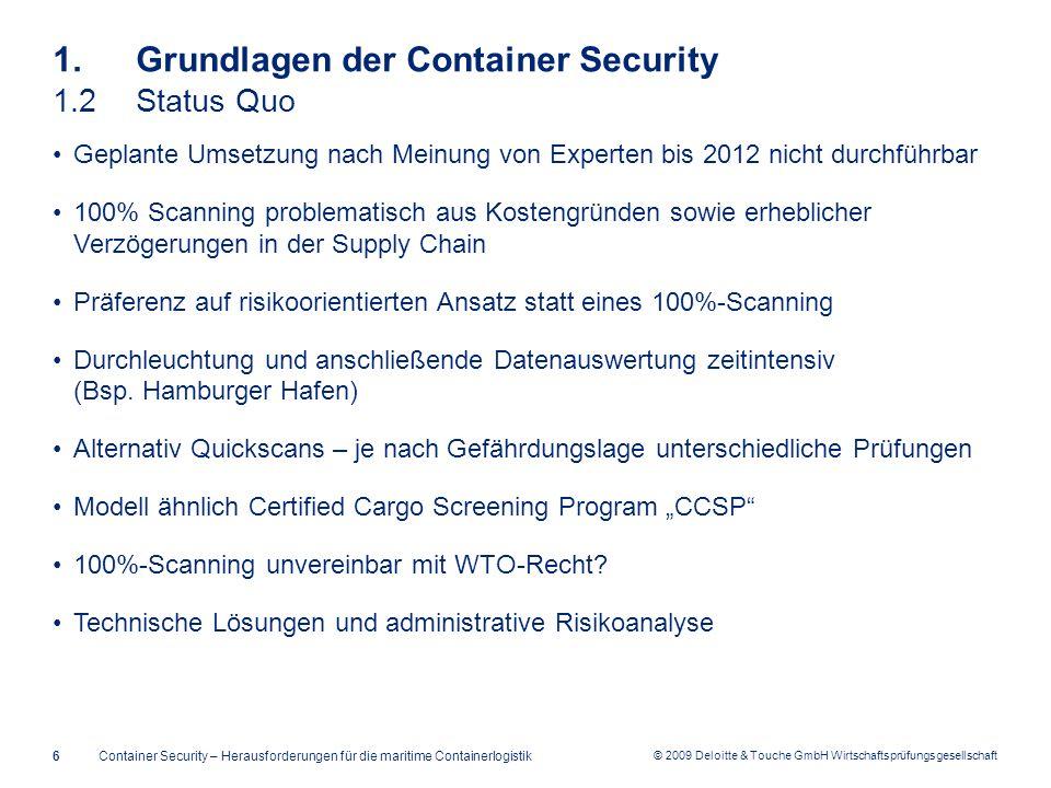 1. Grundlagen der Container Security 1.2 Status Quo