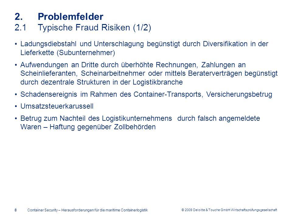 2. Problemfelder 2.1 Typische Fraud Risiken (1/2)