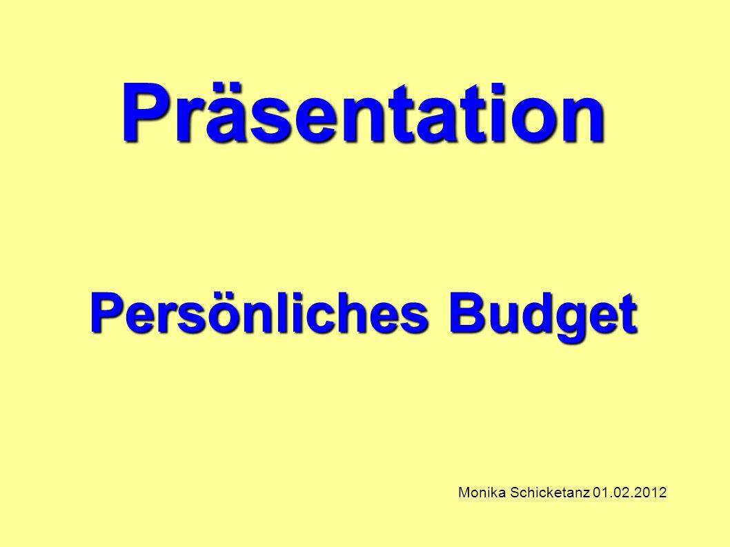 Präsentation Persönliches Budget