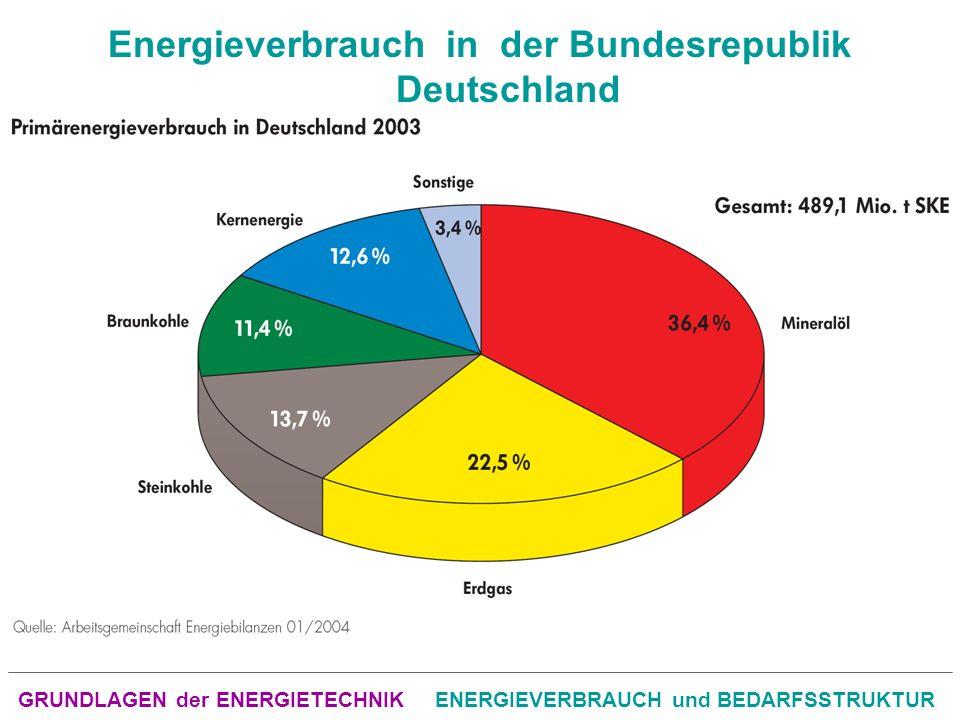 Energieverbrauch in der Bundesrepublik Deutschland