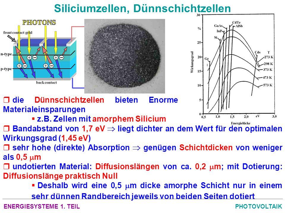 Siliciumzellen, Dünnschichtzellen