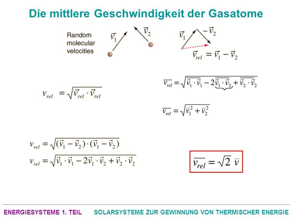Die mittlere Geschwindigkeit der Gasatome