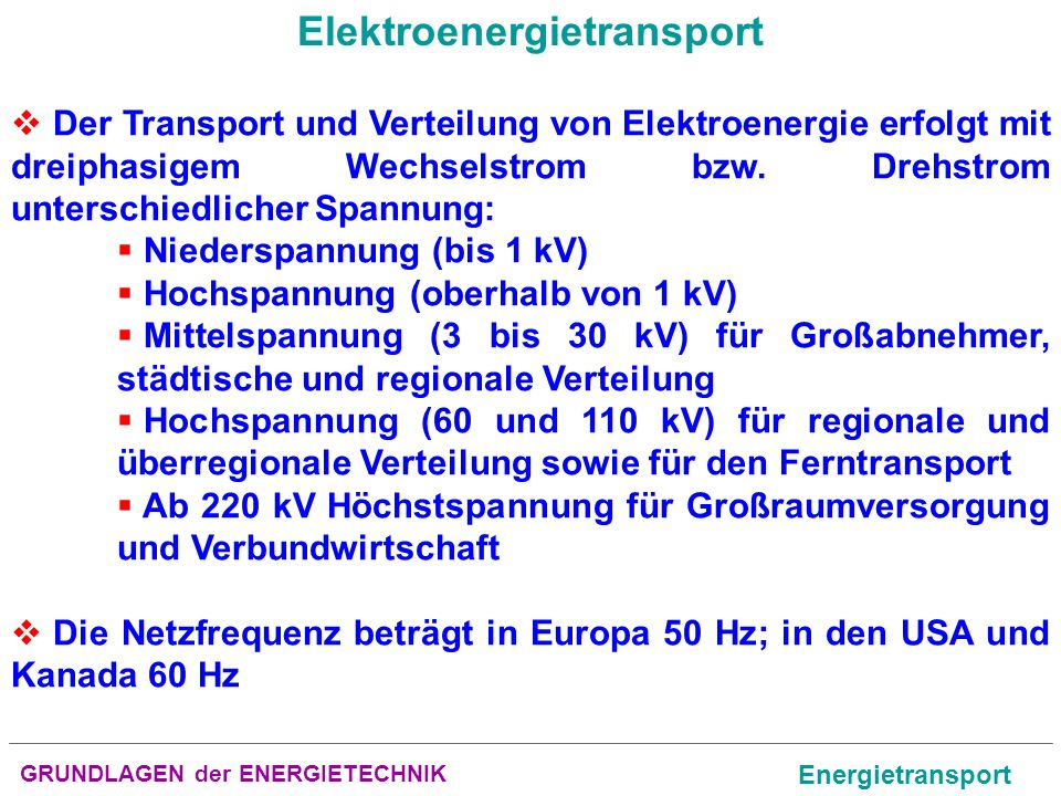 Elektroenergietransport