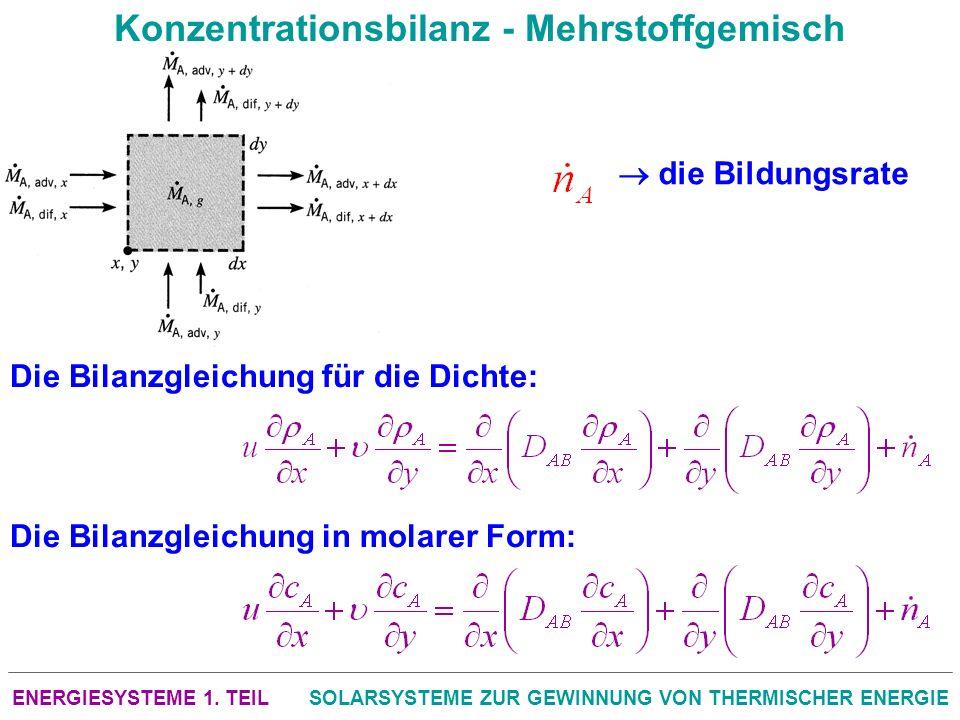 Konzentrationsbilanz - Mehrstoffgemisch