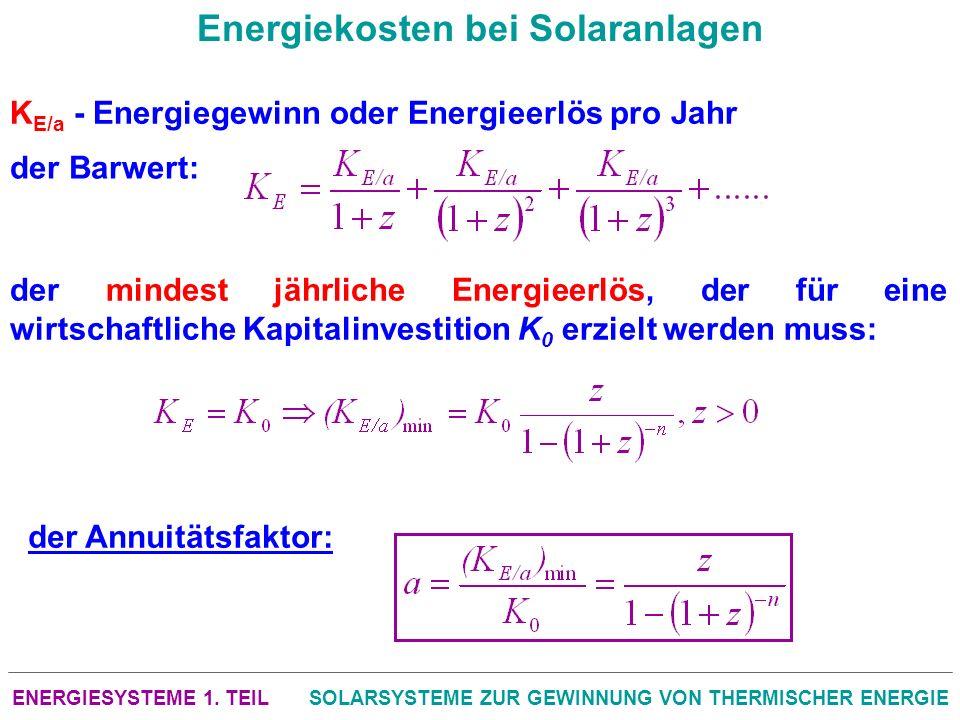Energiekosten bei Solaranlagen