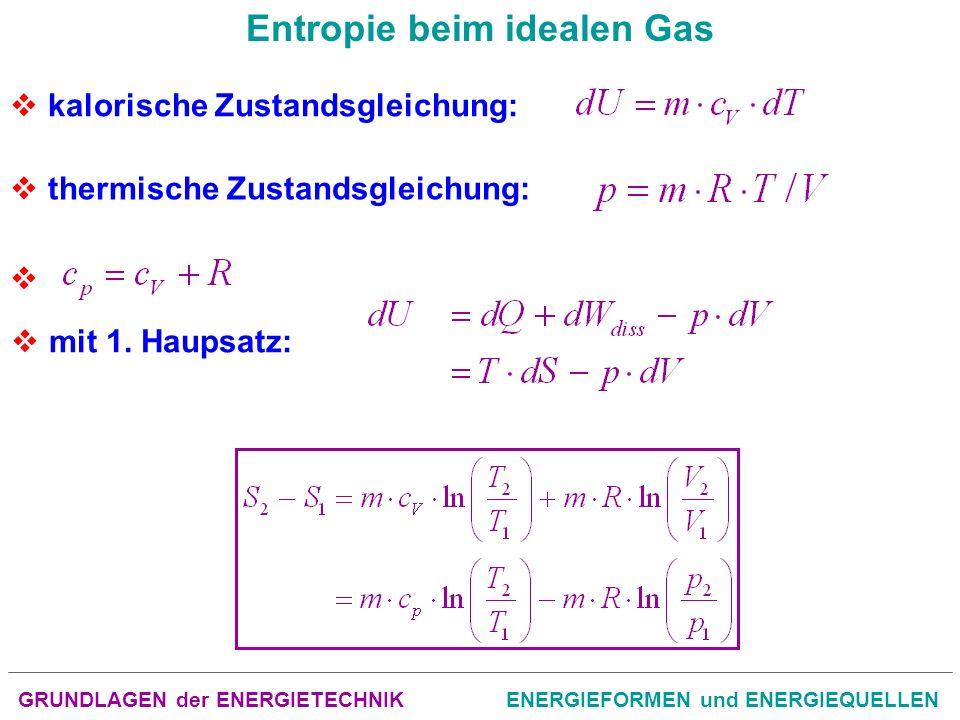 Entropie beim idealen Gas