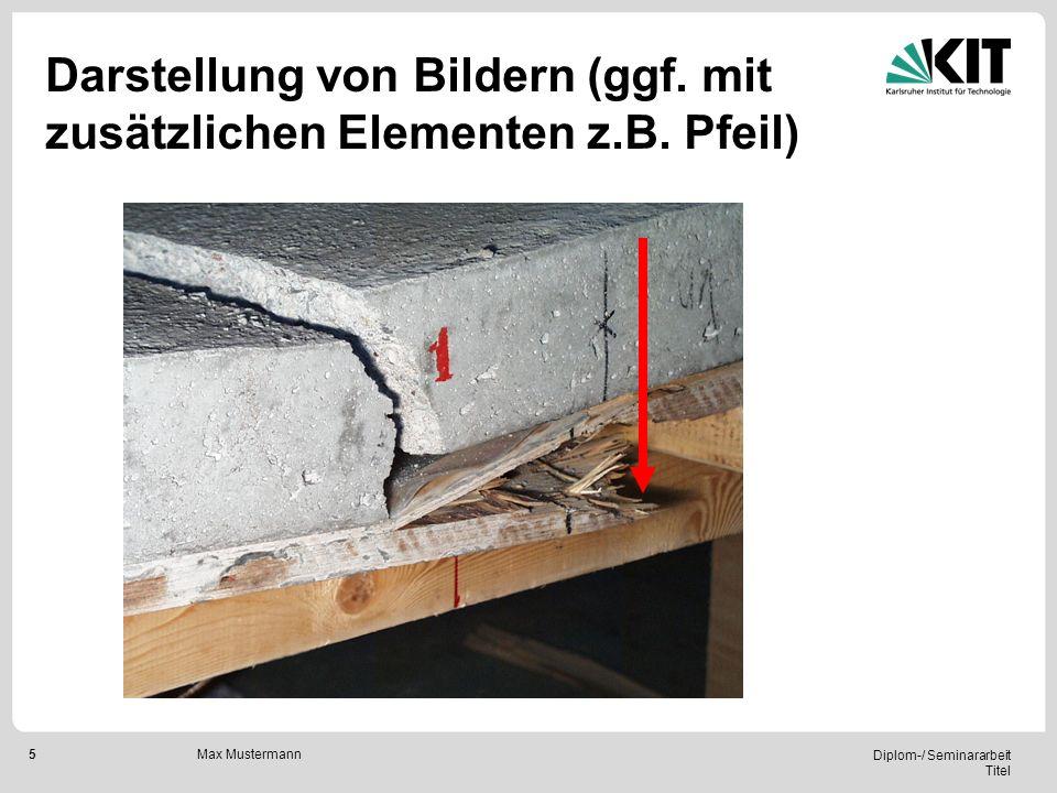 Darstellung von Bildern (ggf. mit zusätzlichen Elementen z.B. Pfeil)